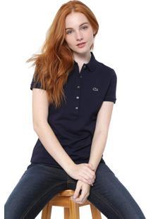 Camisa Polo Lacoste Logo Azul-Marinho