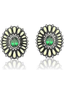 Brinco Le Diamond Gota Verde Esmeralda