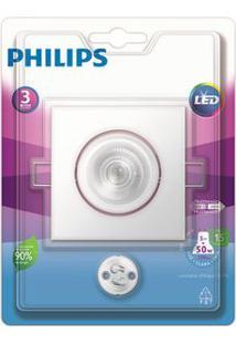 Spot De Embutir Quadrado Led 5W 6500K Branco Philips