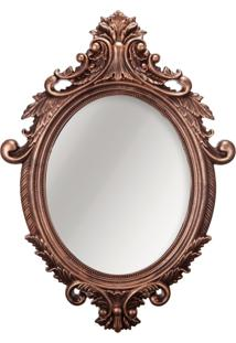 Espelho Oval Rococo Cobre 40X54Cm