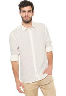Camisa Linho Forum Reta Off-White