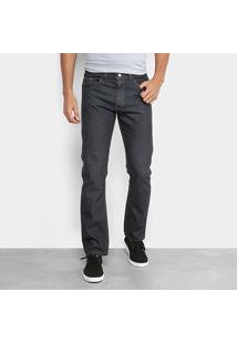 Calça Jeans Reta Rock Blue Masculina - Masculino-Preto