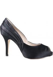 Sapato Laura Porto Peep Toe Salto Fino