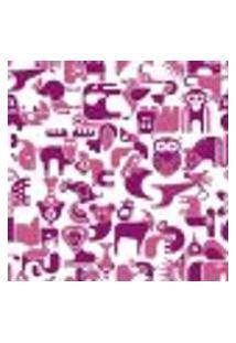 Papel De Parede Adesivo Animais Rosa 287081951 Rolo 0,58X3M