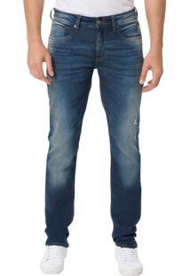 Calça Calvin Klein Jeans 5 Pockets Super Skinny Azul Médio - 38