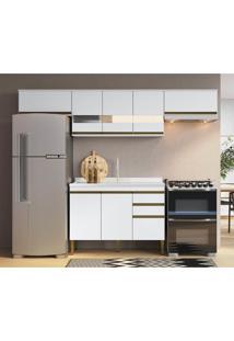 Cozinha Completa 4 Peã§As Em Mdf Branco Lilies Mã³Veis - Branco - Dafiti
