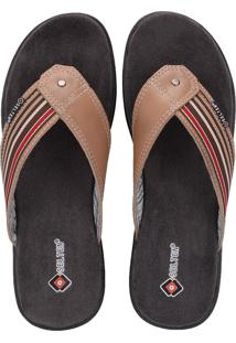 Chinelo Selten Confort Couroway Caramelo