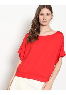Blusa Com Franzidos - Vermelha - Malweemalwee