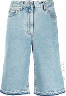 Off-White Bermuda Jeans - Azul
