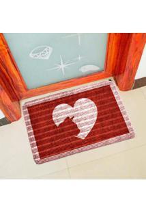 Capacho Carpet Love Cat Vermelho