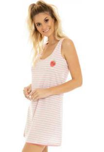 Camisola Listrada Neon Rosa Laibel