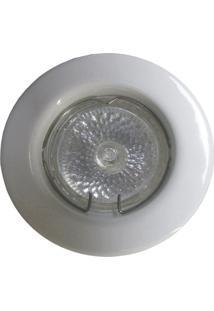Spot Dicróica Fixo Aço Com Pintura Eletrostática Mr16 50W 220V Branco
