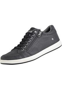 Sapatênis Cr Shoes Com Elástico E Zíper Leve Lançamento Preto