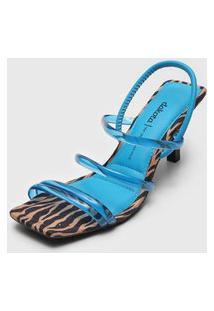 Sandália Dakota Zebra Azul/Bege