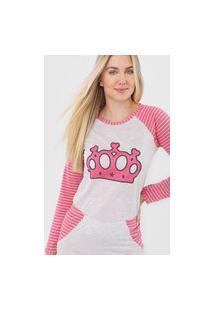 Pijama Coroa Linha Noite Pink