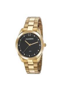 Kit Relógio Feminino Mondaine 53812Lpmvde1K Analógico 5Atm + Brinde   Mondaine   Dourado   U