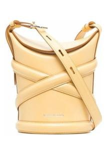 Alexander Mcqueen The Curve Leather Shoulder Bag - Amarelo