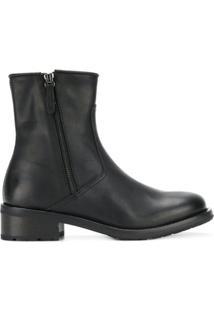 Henderson Baracco Ankle Boot De Couro - Preto
