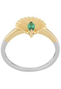 V Jewellery Anel 'Pamela' Banhado A Ouro 18Kt - Metálico