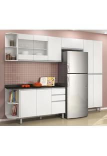 Cozinha Completa Modulada Oussadia Branco Em Mdf 6 Módulos Ncl