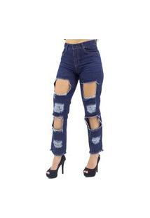 Calça Jeans Mom Destroyed Naraka