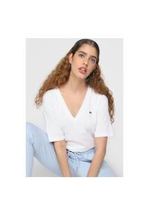 Camiseta Lacoste Logo Off-White