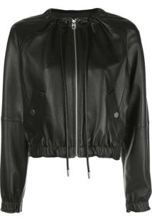 Proenza Schouler White Label Zip-Front Long-Sleeve Jacket - Preto
