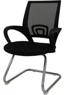 Cadeira Office Santiago Fixa Em Nylon Preto