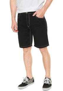 Bermuda Jeans Fiveblu Reta Preta
