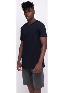 Camiseta Alongada Básica Flamê