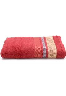 Toalha De Banho Santista Home Design Texture 70Cm X 1,30M Vermelho - Vermelho - Dafiti
