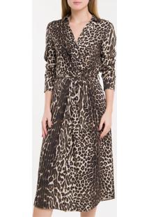 Vestido Leopardo Calvin Klein - Camurça - Pp