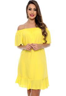 Vestido Ciganinha B Bonnie Tamara Amarelo
