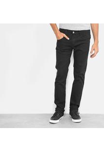 Calça Jeans Slim Preston Masculina - Masculino-Preto