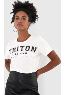 Camiseta Triton Lettering Off-White