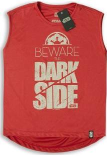 Camiseta Feminina Dry Fit Star Wars Beware The Dark Side - Feminino-Vermelho