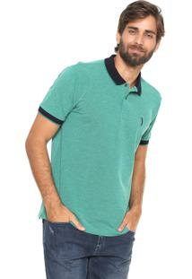 Camisa Polo Aleatory Reta Textura Verde