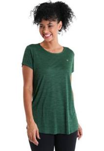 Camiseta Líquido Levíssima Energy Feminina - Feminino-Verde
