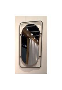 Espelho Capsule Base Retangular Metalica 80 Cm (Alt) - 50457 Sun House