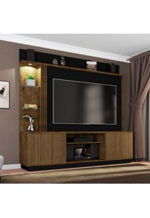 Estante Para Home Theater E Tv 65 Polegadas Atlanta Madeira E Preto