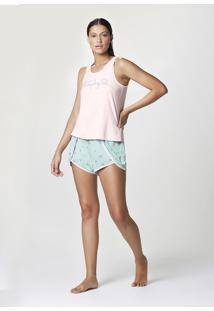Pijama Feminino Curto Com Regata Estampada