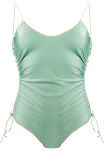 Oseree Maiô Com Costura Básica - Verde