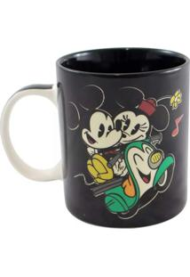 Caneca Magic Mickey E Minnie Geek10 Preto