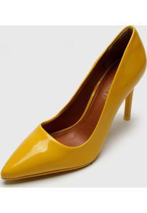 Scarpin Fiveblu Verniz Amarelo