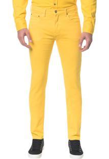 Calça Color Five Pock Slim - Amarelo Ouro - 40