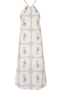 Vestido Legere Azulejo Osklen - Off White