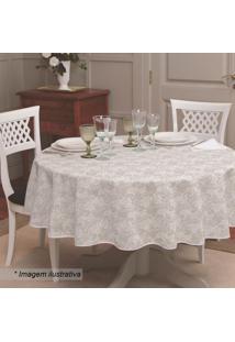 Toalha De Mesa Gardênia Elegance- Branca- Ø155Cmlepper