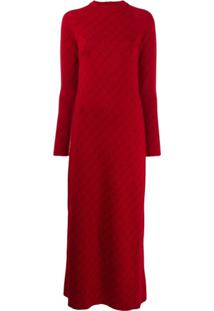 Stella Mccartney Vestido Com Mangas Longas - Vermelho
