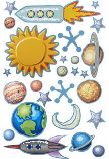 Adesivo De Parede Printas Astros Multicolor