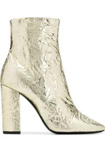 Saint Laurent Ankle Boot Lou - Dourado